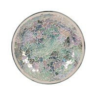 Candle Plate - Blue Crackle