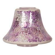 Candle Jar Lamp - Purple Crackle