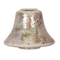 Candle Jar Lamp Shade - Natural Crackle