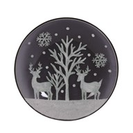 Moonlight Reindeer Candleplate 16cm
