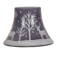 Moonlight Reindeer Candle Jar Lamp Shade 16cm