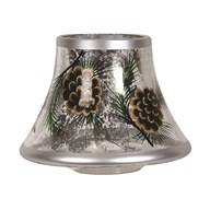 Gold Pinecone Candle Jar Lamp Shade 16cm