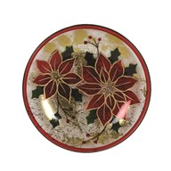 Poinsettia Candleplate 16cm
