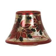 Poinsettia Candle Jar Lamp Shade 16cm