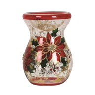Poinsettia Wax Melt Burner 14cm