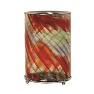 Wax Melt Burner - Red Swirl Art Glass