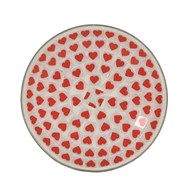 Candle Plate - Red Heart