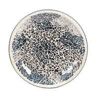 Candle Plate - Blue & Silver