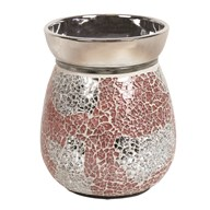 Electric Wax Melt Burner - Coral & Silver