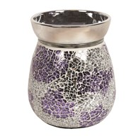 Electric Wax Melt Burner - Purple & Silver