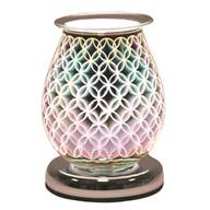 Oval 3D Electric Wax Melt Burner - Geo Circle