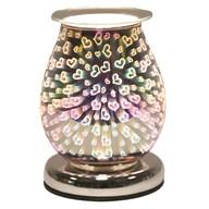 Oval 3D Electric Wax Melt Burner - Hearts