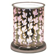 Cylinder 3D Electric Wax Melt Burner - Leaves