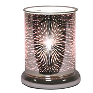 Cylinder 3D Electric Wax Melt Burner - Fountain