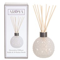 White Lustre Glass Reed Diffuser & 50 Rattan Reeds