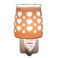 Wax Melt Burner Plug In - Ceramic Hearts