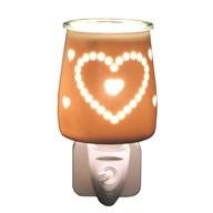 Wax Melt Burner Plug In - Ceramic Heart