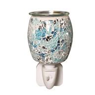 Wax Melt Burner Plug In - Blue Glass Mosaic