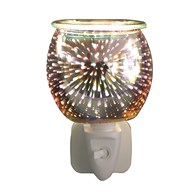 Wax Melt Burner Plug In - 3D Glass Burst
