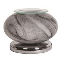 Electric Wax Melt Burner Touch - Grey Marble Ellipse