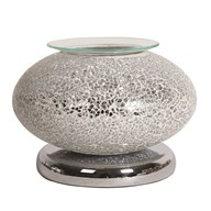 Electric Wax Melt Burner Touch - Silver Mosaic Ellipse