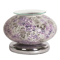 Electric Wax Melt Burner Touch - Purple Mosaic Ellipse
