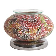 Electric Wax Melt Burner Touch - Red Mosaic Ellipse