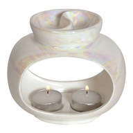 Wax Melt Burner - Oval Lustre Double Burner