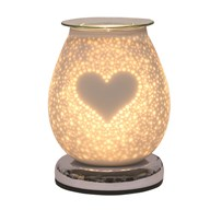 Electric Wax Melt Burner Touch - White Satin Burst Heart