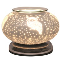 Electric Wax Melt Burner Touch - White Satin Owl Ellipse