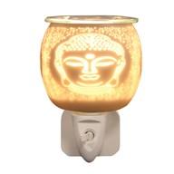 Wax Melt Burner Plug In - White Satin Buddha
