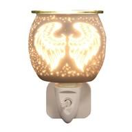 Wax Melt Burner Plug In - White Satin Angel Wings