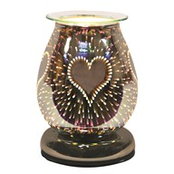 Electric Wax Melt Burner Touch - 3D Burst Heart Oval