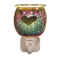 Wax Melt Burner Plug In - 3D Burst Heart