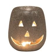 Wax Melt Burner - Pumpkin Silver