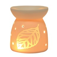 Wax Melt Burner - Ceramic Leaf