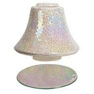Jar Shade & Tray Set - Pearl Crackle