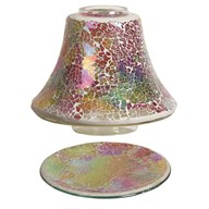 Jar Shade & Tray Set - Rainbow Crackle