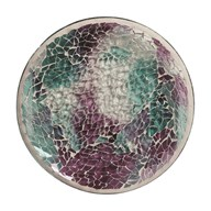 Candle Plate - Teal Crackle