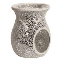 Wax Melt Burner – Silver Crackle