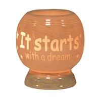 Ceramic Electric Wax Melt Burner - 'It Starts With A Dream'