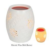 Electric Wax Melt Burner - Ceramic Floral
