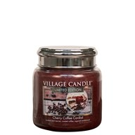 Cherry Coffee Cordial Village Candle 16oz Scented Candle Jar