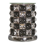 Crystal Electric Wax Melt Burner - Black Check