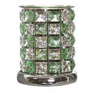 Crystal Electric Wax Melt Burner - Green Check