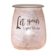 Electric Wax Melt Burner - Glitter 'Let Your Light Shine'