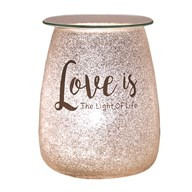 Electric Wax Melt Burner - Glitter 'Love Is The Light Of Life'