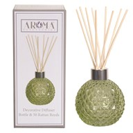 Green Lustre Glass Reed Diffuser & 50 Rattan Reeds