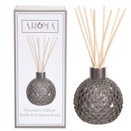Grey Lustre Glass Reed Diffuser & 50 Rattan Reeds