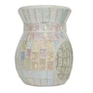 Wax Melt Burner - Ice White Lustre Mosaic